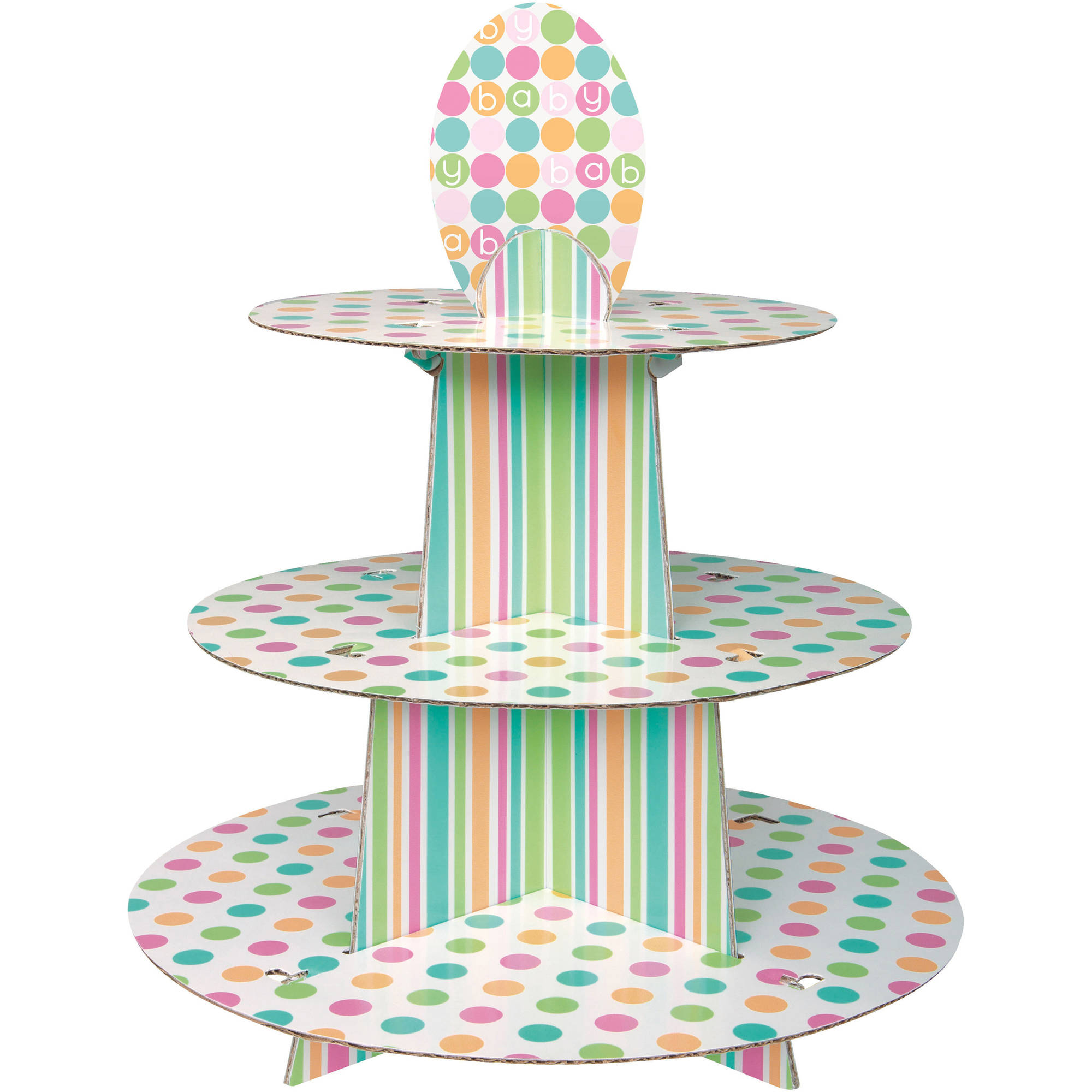 Cardboard Pastel Baby Shower Cupcake Stand, 14 x 12 in, 1ct