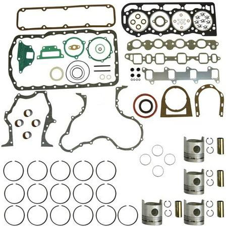 """Engine Rebuild Kit - Less Bearings - .040"""" Oversize Pistons, Ford, BSD442, 256"""