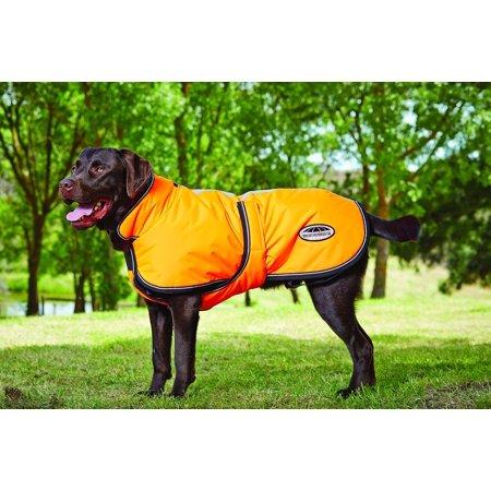 "WEATHERBEETA PARKA 1200D DOG COAT NAVY/GREY/WHITE 16"""