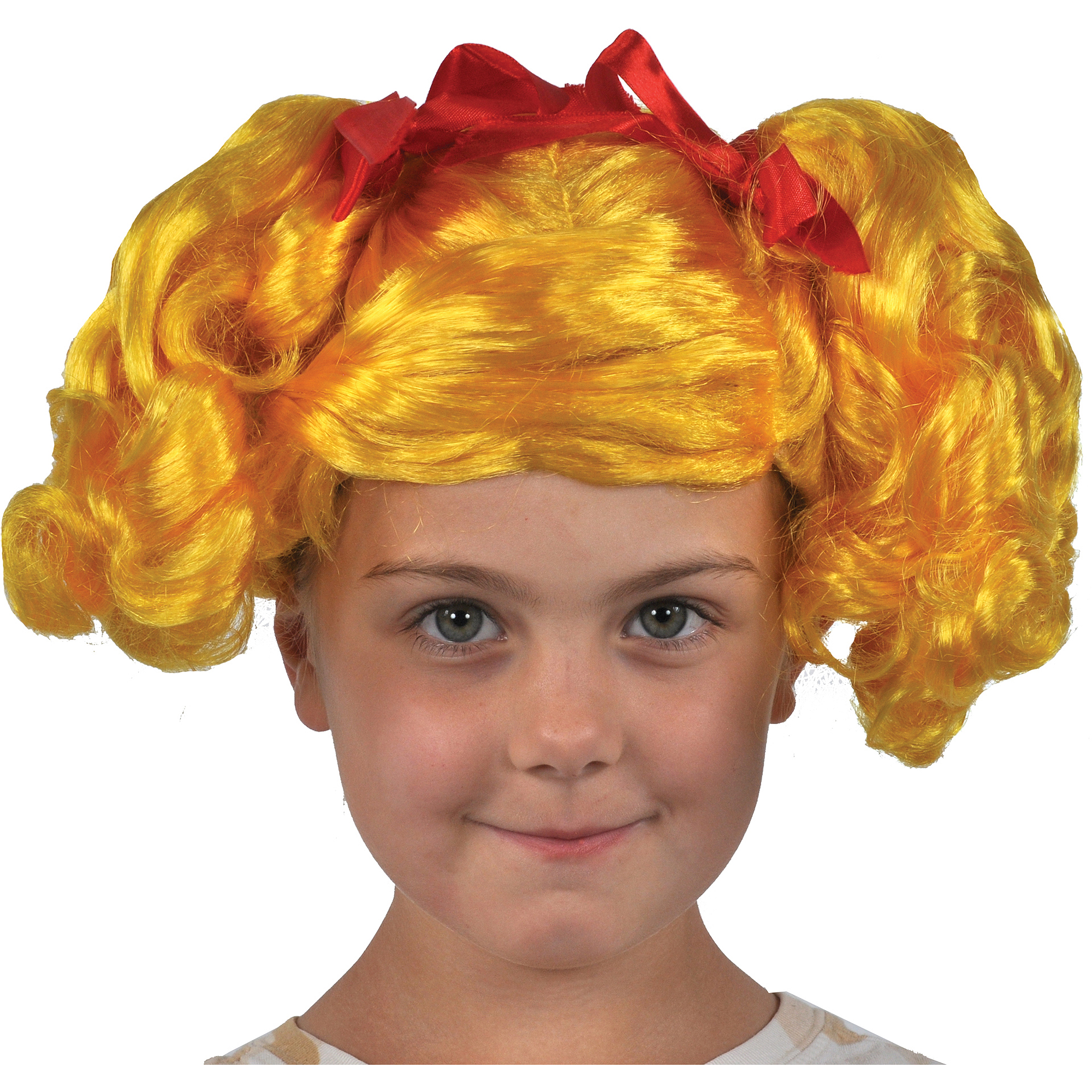 Yellow Lalaloopsy Spot Splatter Wig Child Halloween Costume