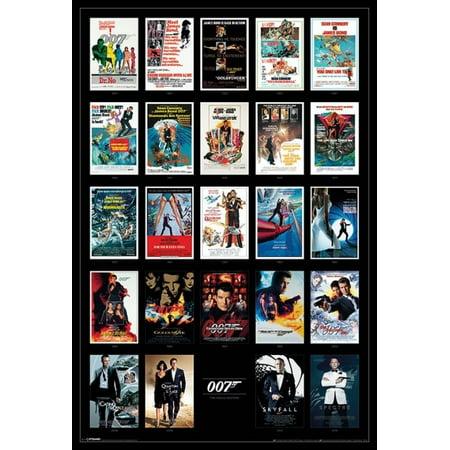 James Bond - 24 Movie Poster Prints Poster Poster Print](James Ensor Poster Halloween)
