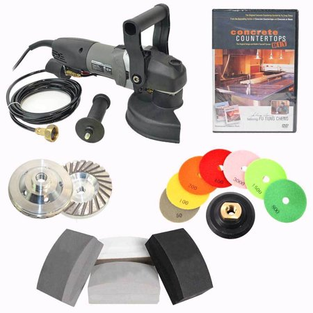 5 Inch Electric Hand Wet Concrete Countertop Polisher Grinder
