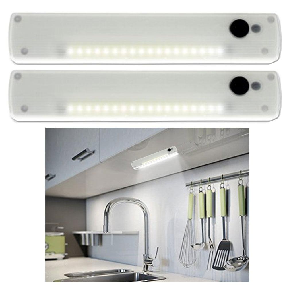 2 Wardrobe LED Lights Wireless Battery Closet Lamp Cabinet Night Light Portable