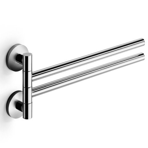 Average Height Of Towel Bar In Bathroom: WS Bath Collections Napie Flexible Double Wall Mounted