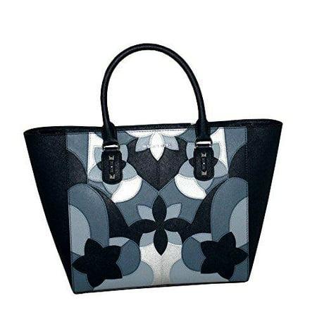 MICHAEL Michael Kors Women s Sandrine Large Top Zip Handbag Leather TOTE ( Navy) - Walmart.com 4538ac791