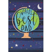 Pictura World's Best Dad Globe Father's Day Card