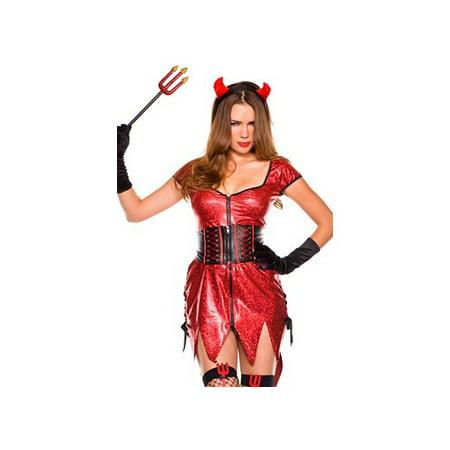 Music Legs Red Diva Devil Costume 70308 - Devil Diva Costume