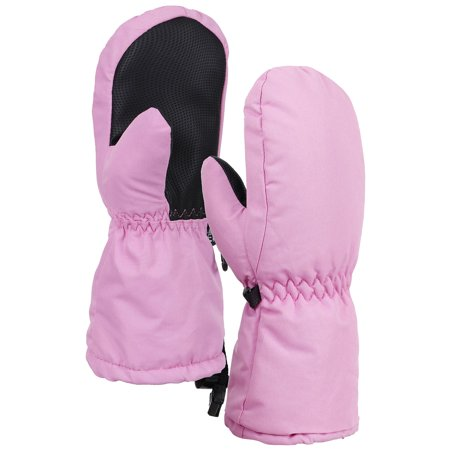 Toppers Kids Thinsulate Lined Waterproof Outdoor Winter Sport Ski Mittens Pink S
