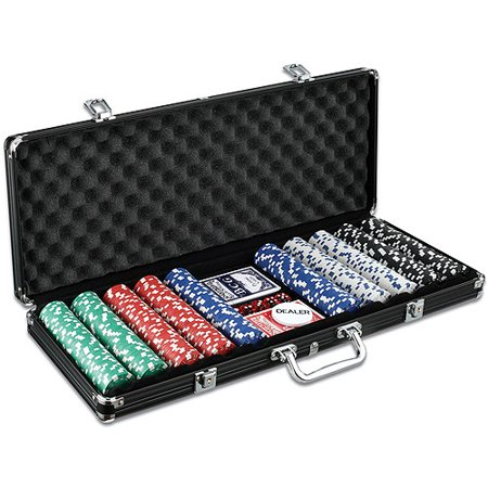 Poker Chip Set with 500 Chips - 500 Ceramic Poker