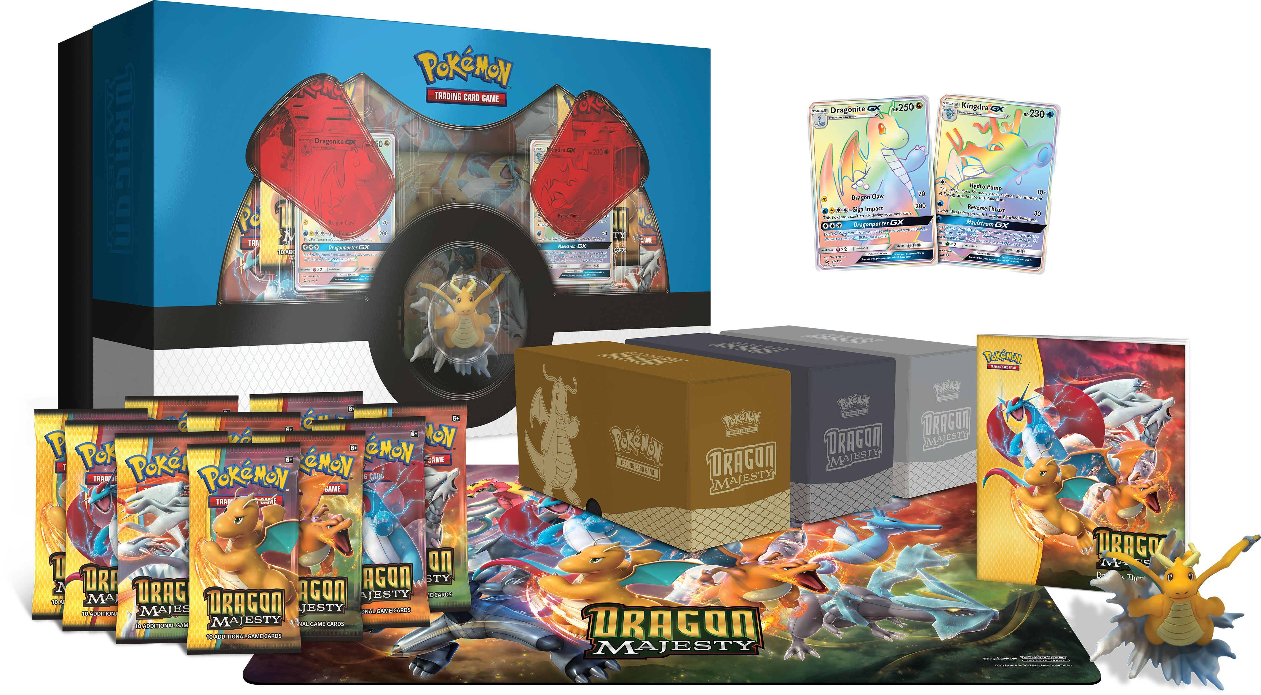 Click here to buy Pokemon Sun and Moon 7.5 Dragon Majesty Super Premium Box by POKEMON TCG.
