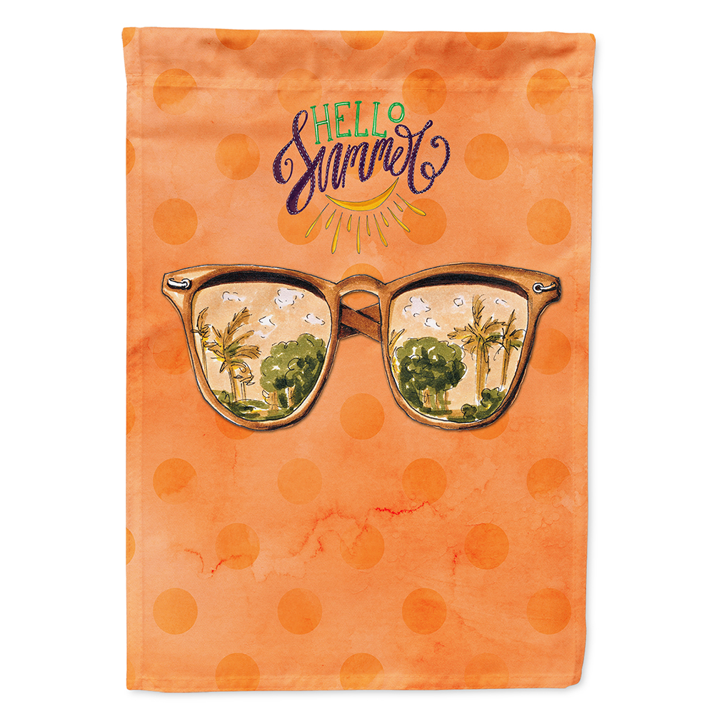 Beach Sunglasses Orange Polkadot Flag Canvas House Size