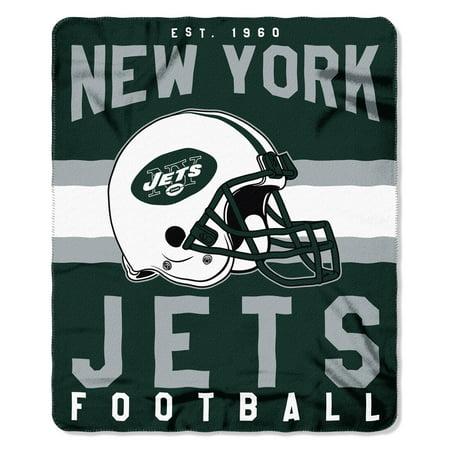 "NFL New York Jets ""Singular"" 50"" x 60"" Fleece Throw"