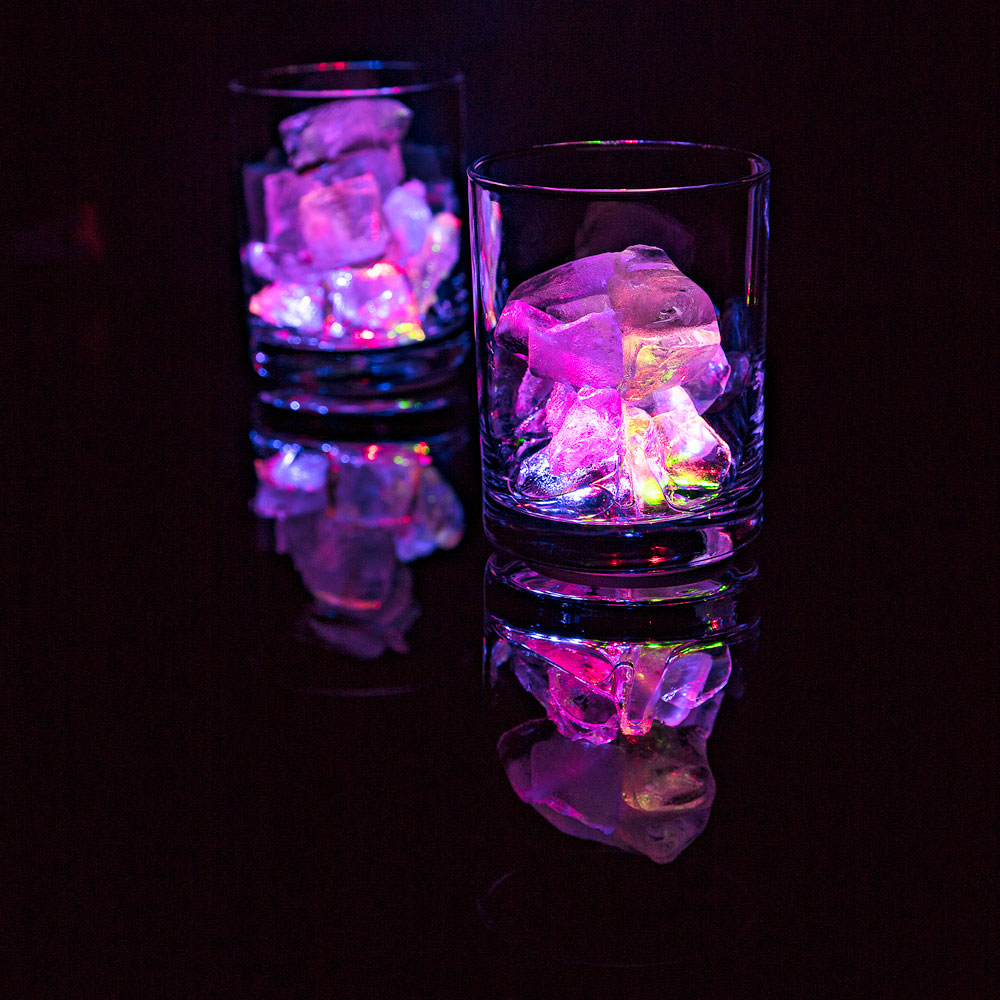 Stick on Bottle Drinking Stickers Multicolour 5 Pack Axman LED Light Up Coasters