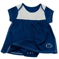Penn State Nittany Lions Colosseum Girls Infant One Time Bodysuit Dress - Navy/White