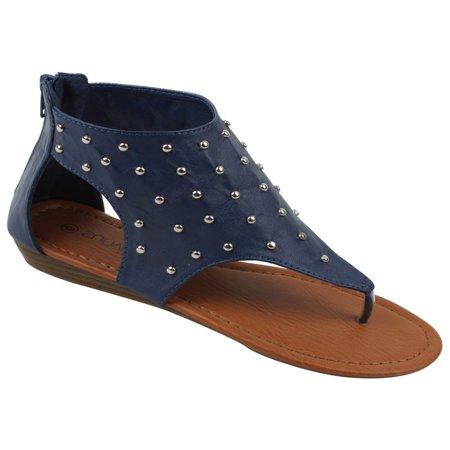 1bac1bb7f2a SBG - Womens Gladiator Sandals Thong Flops T Strap Flip Flops Flats ...