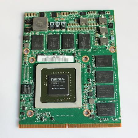 HP Lenovo NVIDIA Quadro FX 2800M 1GB Laptop PC Video Graphic Card 505986-001 596062-001 for HP Elitebook 8740W ()