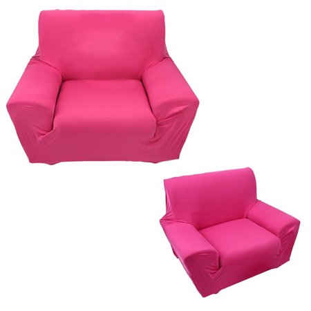 Anauto Stretch Slipcover Chair Loveseat Sofa Couch Protect Elastic Cover Sofa Slipcove Single Seater Rose Red