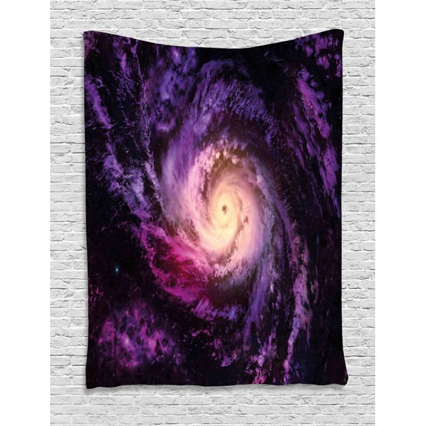 Galaxy Tapestry, Purple Nebula Cloudy Stardust Cluster