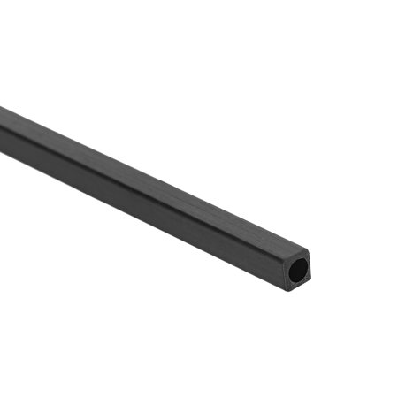 Carbon Fiber Square Tube 1.7x1.7x1mm Inner Round 400mm Length Pultruded Carbon Fiber Tubing for RC Airplane 1 Pcs