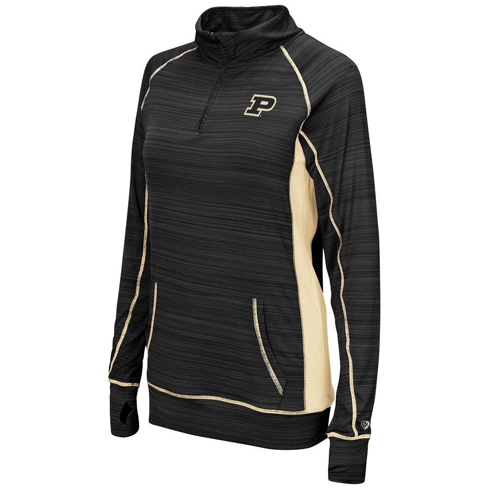 Womens Purdue Boilermakers Quarter Zip Wind Shirt - S