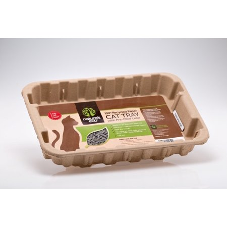 Scoopfree Litter Tray Refills - Nature's eco 100% recycled paper disposable cat tray with pre-filled litter