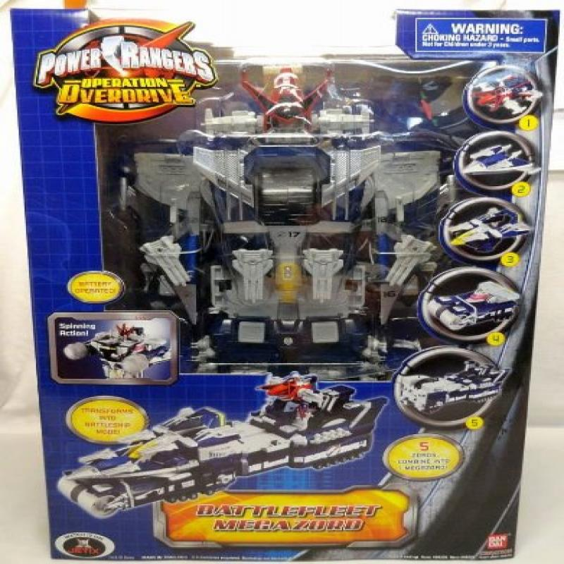 Bandai Power Rangers Operation Overdrive Battlefleet Mega...