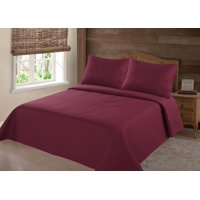 PERSIAN EYGYPTION COLLECTION KING NENA BROWN COFFEE SOLID CLOSOUT QUILT BEDDING BEDSPREAD COVERLET PILLOW CASES SET