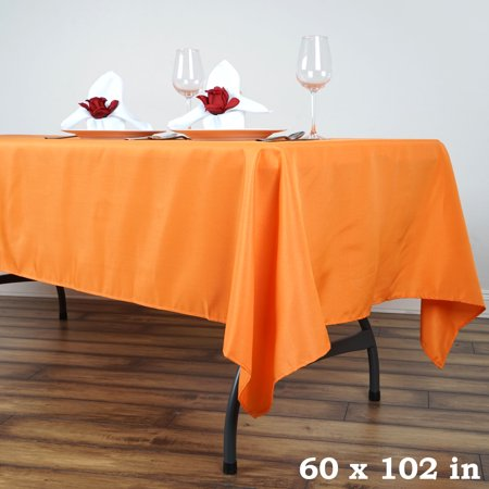 "Best Efavormart 60x102"" Polyester Rectangle Tablecloths for Kitchen Dining Catering Wedding Birthday Party Decorations Events deal"