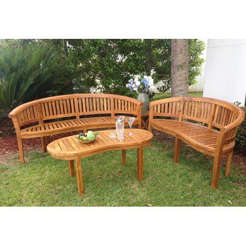 Chic Teak Peanut Teak Garden Bench by