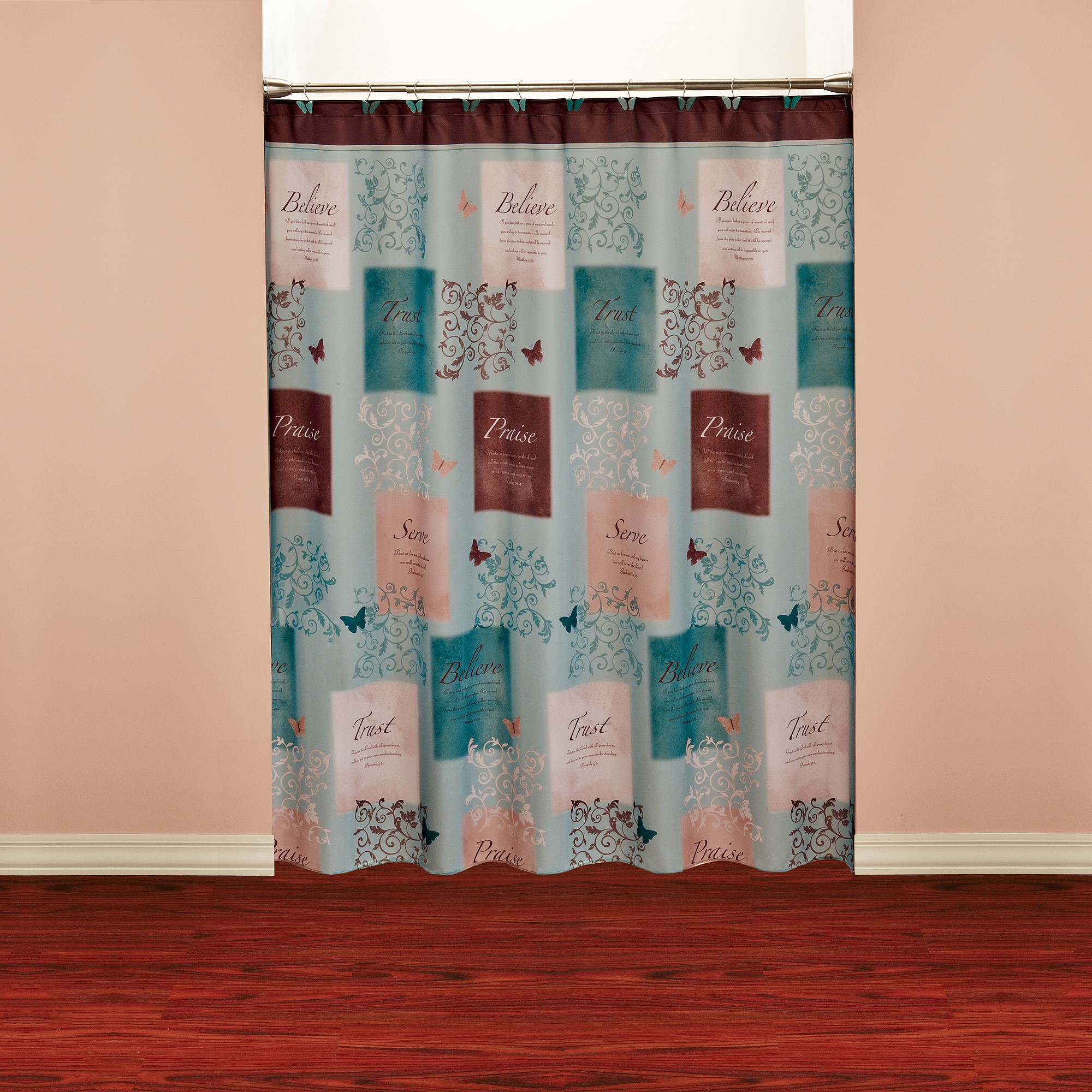 Butterfly Blessings Shower Curtain by Saturday Knight LTD