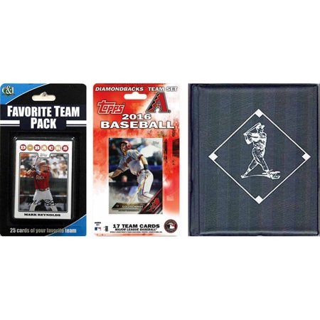 C&I Collectables MLB Arizona Diamondbacks Licensed 2016 Topps Team Set and Favorite Player Trading Cards Plus Storage Album](Arizona Trading Company)