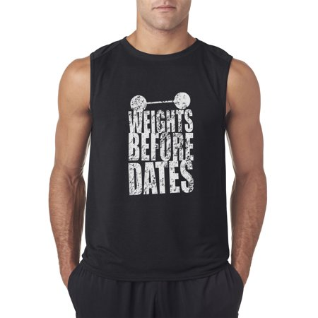 Trendy USA 1028 - Men's Sleeveless Weights Before Dates Workout Gym Training Small
