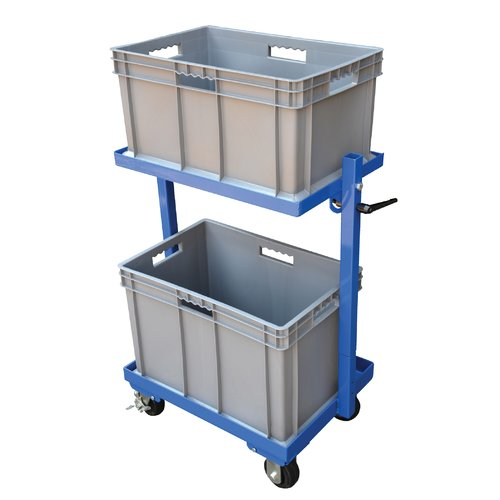 Vestil 200 lbs 1 Shelf 2 Basket Multi-Tier Utility Cart