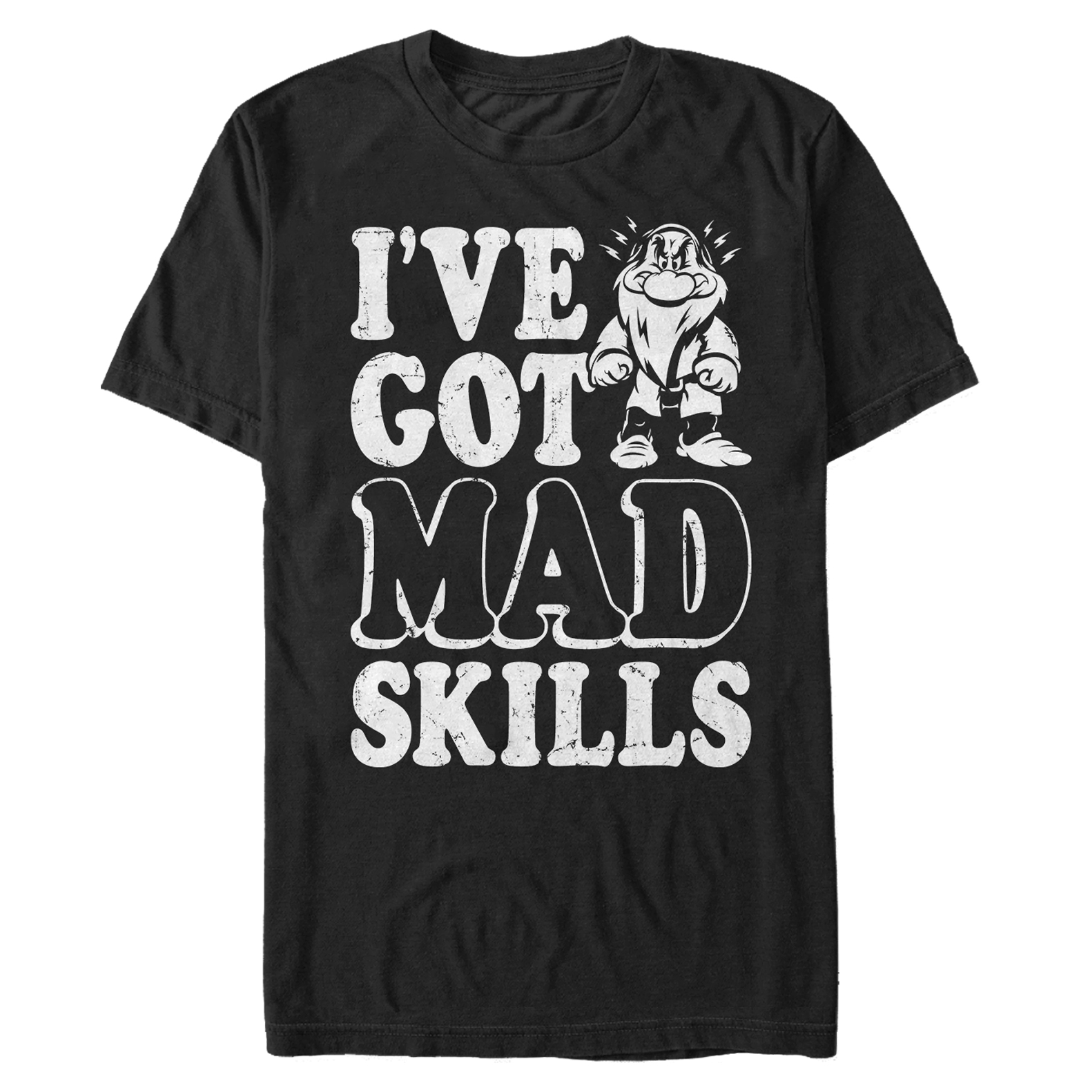 Snow White and the Seven Dwarves Men's Grumpy Mad Skills T-Shirt