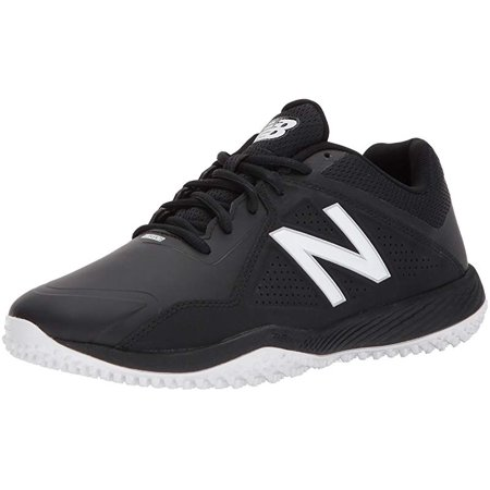 New Balance Men's T4040v4 Turf Baseball Shoe, Black, 14 2E US