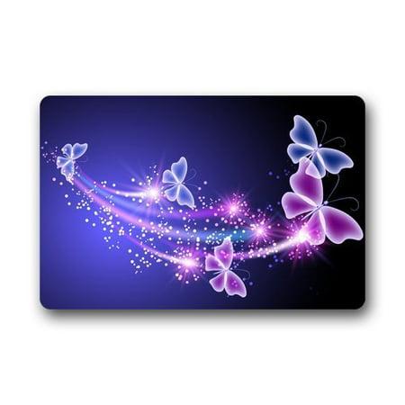 WinHome Beautiful Shining Butterflies Doormat Floor Mats Rugs Outdoors/Indoor Doormat Size 30x18 inches](Butterfly Rug)
