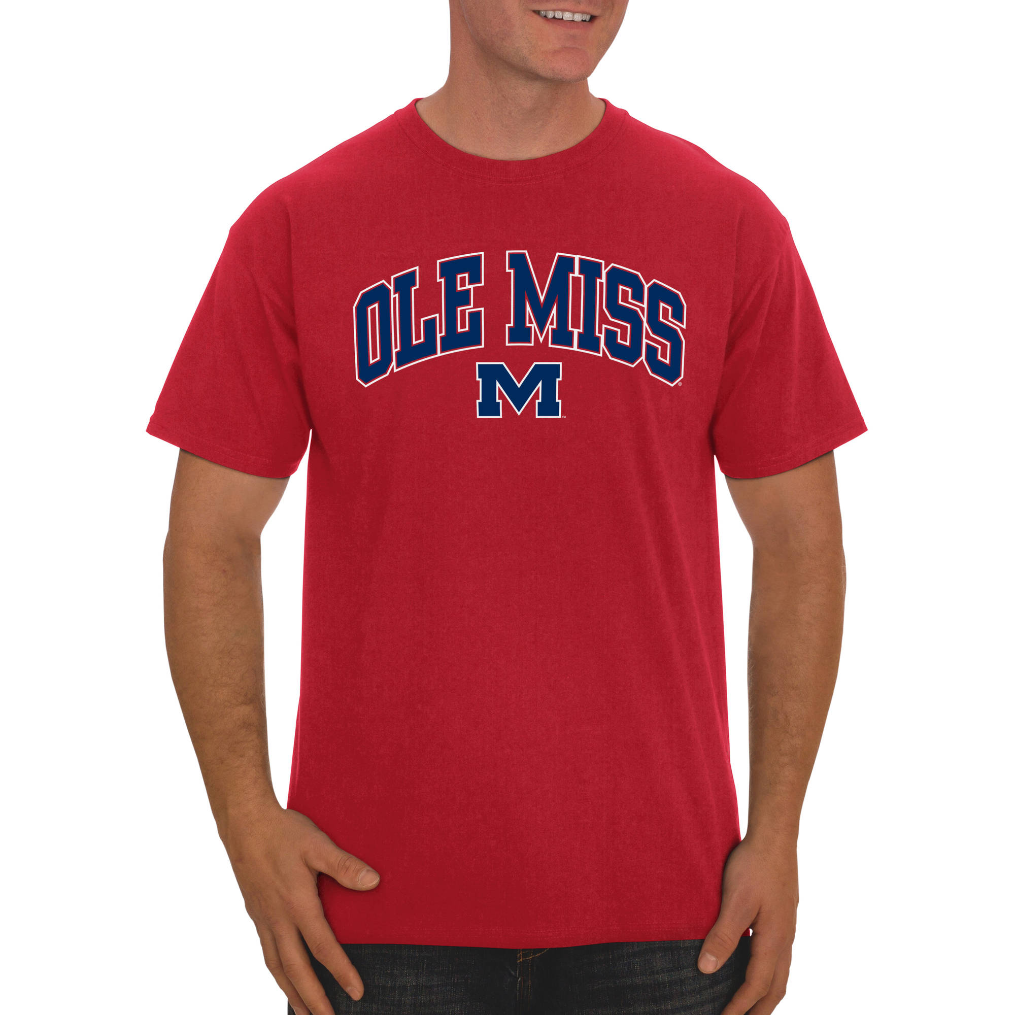 Russell NCAA Ole Miss Rebels Big Men's Classic Cotton T-Shirt