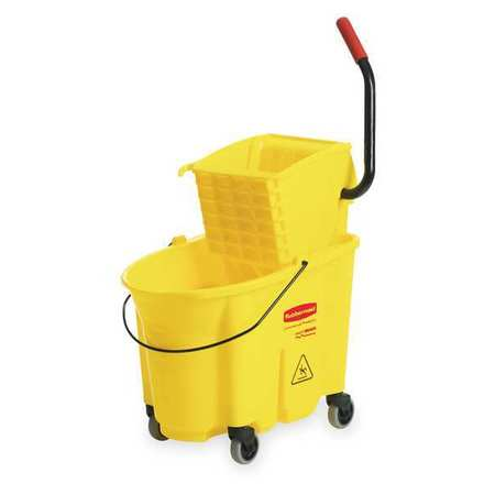 RUBBERMAID FG758088YEL Mop Bucket and Wringer, 35 qt., Yellow