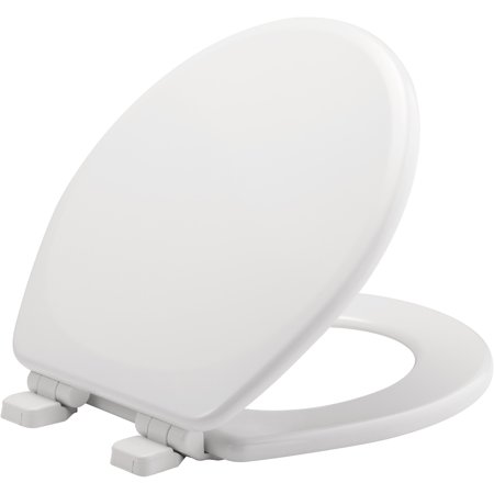 Awesome Mayfair Round Enameled Wood Toilet Seat In White With Sta Tite Seat Fastening System Whisperclose And Precision Seat Fit Adjustable Hinge Alphanode Cool Chair Designs And Ideas Alphanodeonline