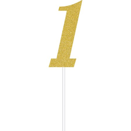 Gold Number One Cake Topper, each