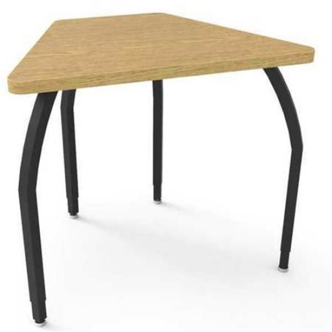 Wisconsin Bench ELO6217-ADJ09-32-32 Elo Connect 8 Desk, Bannister Oak Laminate & Banding with 4 Adjustable Black Legs - 26-31 x 33 x 24 in.