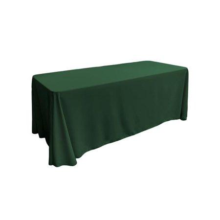 LA Linen TCpop90x132-GreenHuP20 Polyester Poplin Rectangular Tablecloth, Hunter Green - 90 x 132 in.
