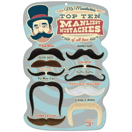White Mustache Costume (Mr. Moustachio's 10 Manliest Mustaches of All)