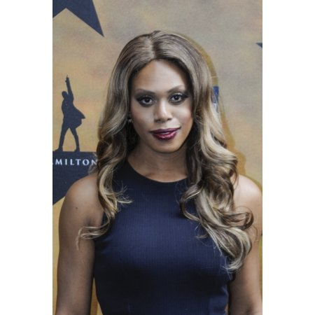 Laverne Cox At Arrivals For Hamilton Opening Night On Broadway Rolled Canvas Art     8 X 10