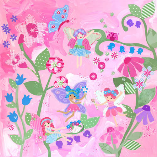 Oopsy Daisy Too's Flower Fairies Canvas Wall Art, 21x21