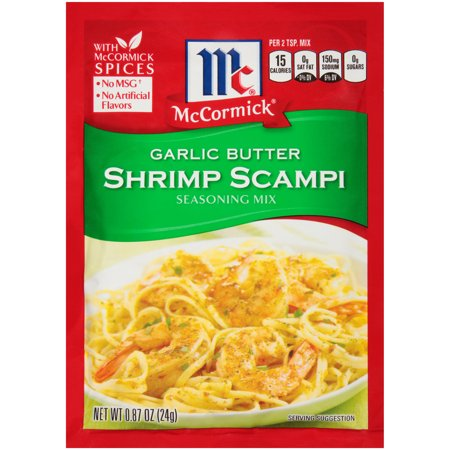 (4 Pack) McCormick Garlic Butter Shrimp Scampi, 0.87 oz (Butter Flavor Salt)