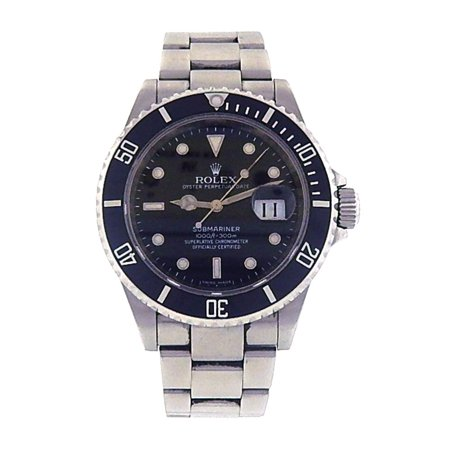 Pre-Owned Rolex Submariner 16610 Steel 40mm Watch (Certified Authentic & Warranty)