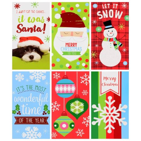 Christmas House Greeting Cards wtih Money Holders, 8-ct. Packs ()