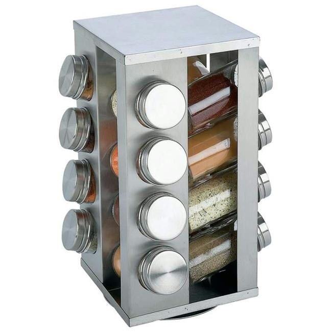 Chef Secret 16 Jar Ss Rotating Spice Rack