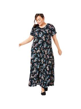 Plus Size Crinkle Dress